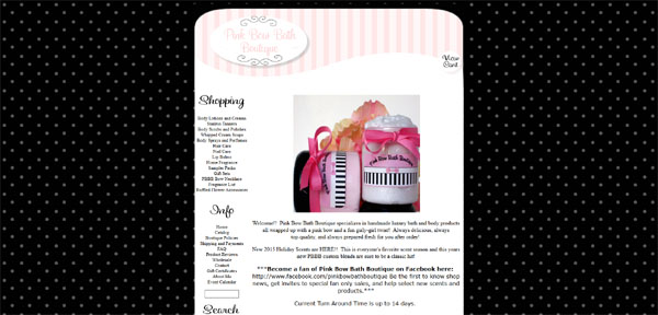 Pink Bow Bath Boutique