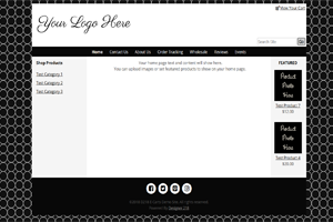 Black Featured Layout