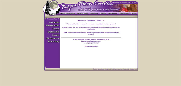 Bayou Moon Candles