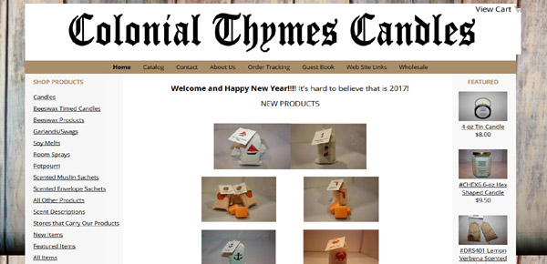 Colonial Thymes Candles